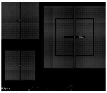 Встраиваемая варочная панель индукционная Hotpoint-Ariston KIS 630 XLD B Black