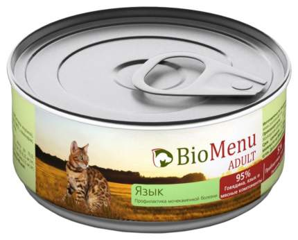 Консервы для кошек BioMenu Adult, мясо, 24шт, 100г