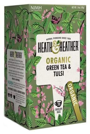 Чай зеленый Heath&Heather с базиликом Органик 20 пакетиков