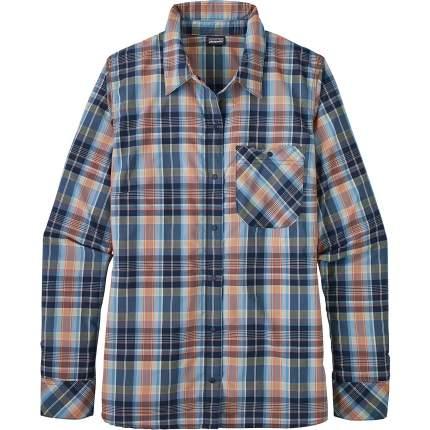 Рубашка Patagonia LS Havasu Shirt, wawona plaid classic navy, L INT