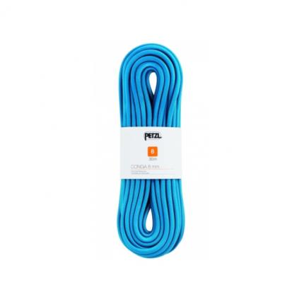 Веревка динамическая Petzl Conga 8 мм, синяя, 30 м