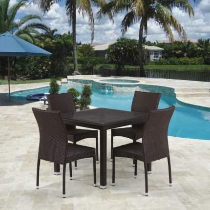 Комплект плетеной мебели T257A/Y380A-W53 Brown 4Pcs