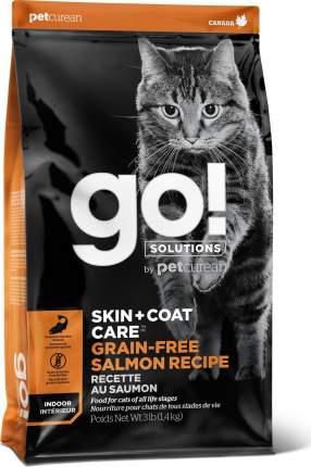 Сухой корм для кошек и котят GO! Skin + Coat, беззерновой, с лососем, 3,63 кг