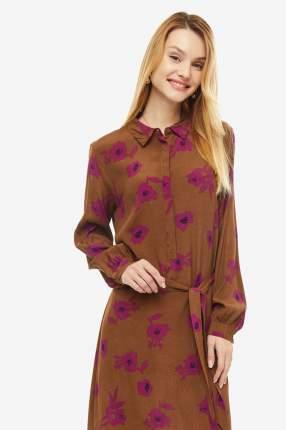 Платье женское ICHI 110210 12284 коричневое 34 EU