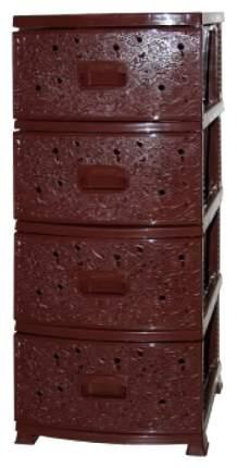 "Комод ""Ажур"", 4 секции, коричневый"