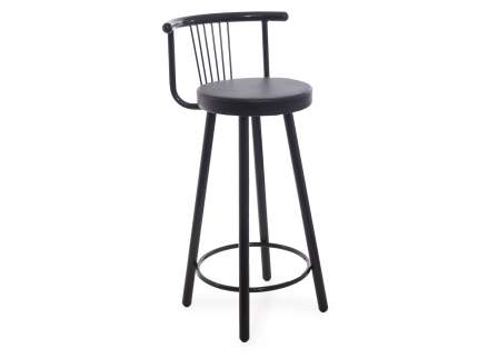 Мягкий барный стул для кухни Амис Барный Стиль Черный