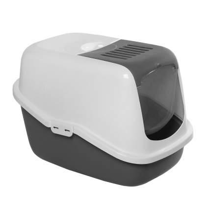 Туалет для кошек Savic Nestor, прямоугольный, серый, 56х39х38,5 см