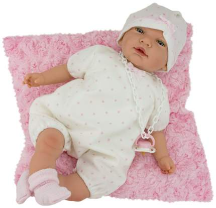 Пупс Nines d'Onil Новорожденный малыш, с розовой подушкой