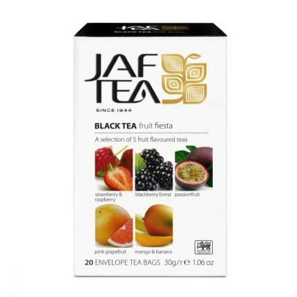 Чай Jaf Tea Fruit Fiesta черный с добавками ассорти 5 видов по 4 сашета