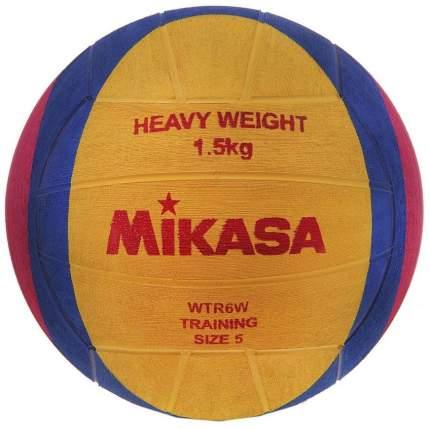 Мяч для водного поло Mikasa WTR6W, 5, желтый/розовый/синий