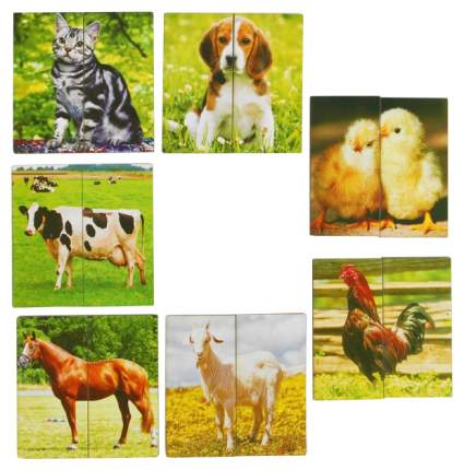 "Картинки-половинки ""Домашние животные"" Smile Decor"