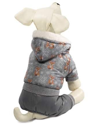 Комбинезон для собак Triol Лисички, зимний, серый, S