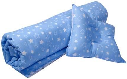 """Набор для детской коляски/кроватки """"Эдельвейс"""", 2 предмета, бязь (серый, синий)"""