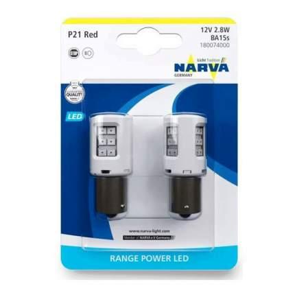 Лампа P21w 12v 2,7w Led Red B2 NARVA арт. 180074000