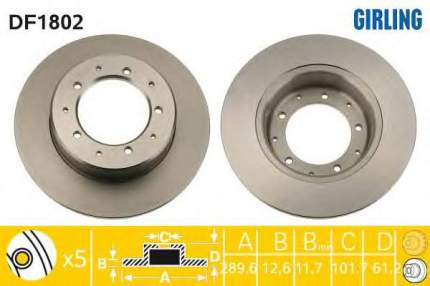 Тормозной диск GIRLING 6018024