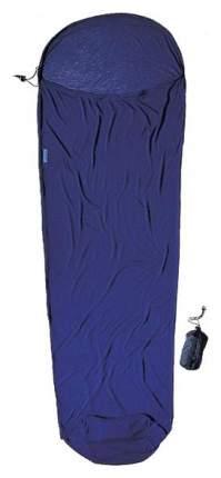 Вкладыш в спальник Coolmax Mummyliner темно-синий 220X80/60 см