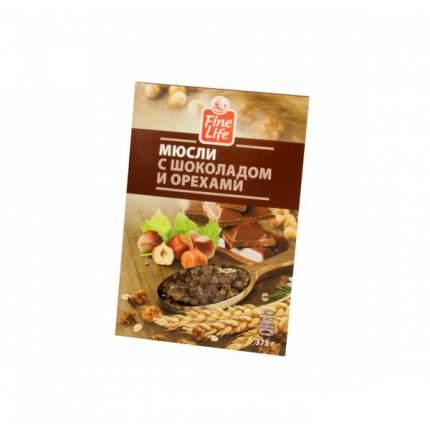 Мюсли Fine Life с шоколадом и орехами 375 г