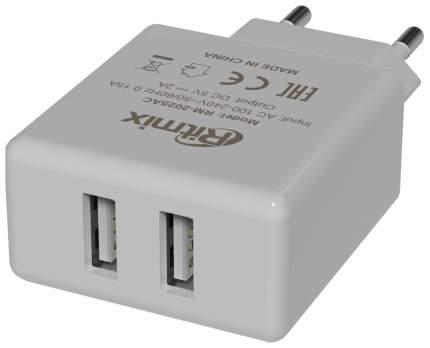 Сетевое зарядное устройство Ritmix RM-2025 2 USB 2А White