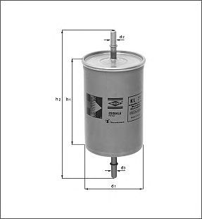 Фильтр топливный Mahle/Knecht KL573