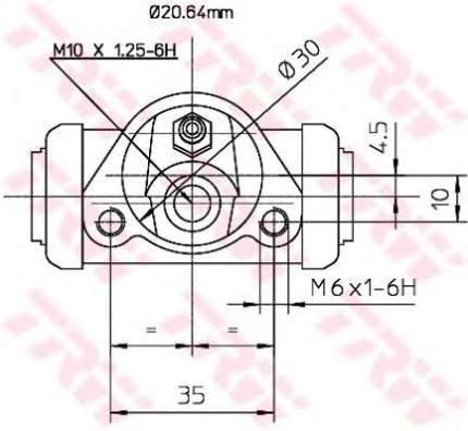Тормозной цилиндр TRW/Lucas BWF144