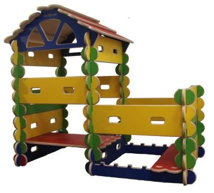 Готовый комплект Домик с пристроем - игровой детский конcтруктор-транcформер Архитектор