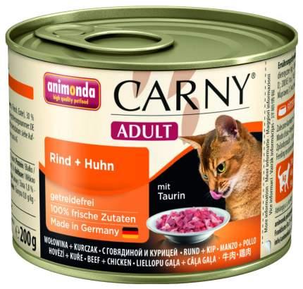 Консервы для кошек Animonda Carny Adult, говядина, курица, 6шт, 200г