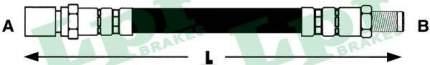 Шланг тормозной системы Lpr 6T47153 задний