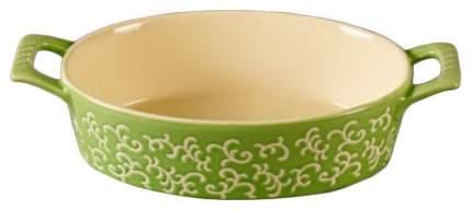 Форма керамическая ТМ Appetite овальная 30х16х7см Зеленый