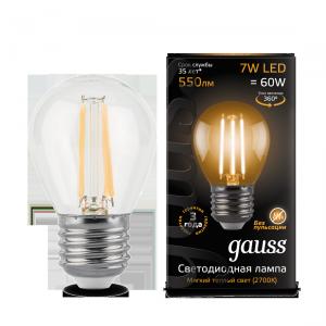 Светодиодная лампа GAUSS LED E27 7вт теплый 105802107