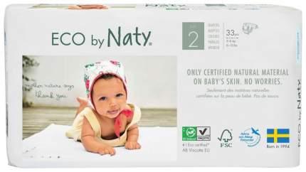 Подгузники для новорожденных Naty р.2 (3-6 кг) 33 шт.