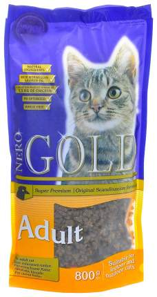 Сухой корм для кошек NERO GOLD Super Premium, курица, 0,8кг