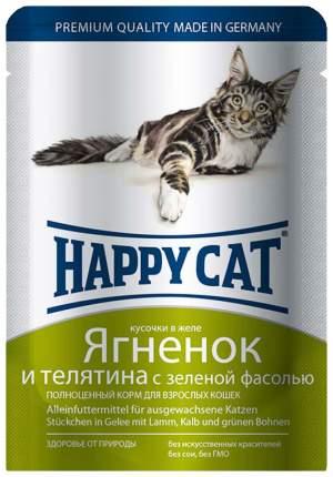 Влажный корм для кошек Happy Cat, ягненок, телятина, овощи, 100г