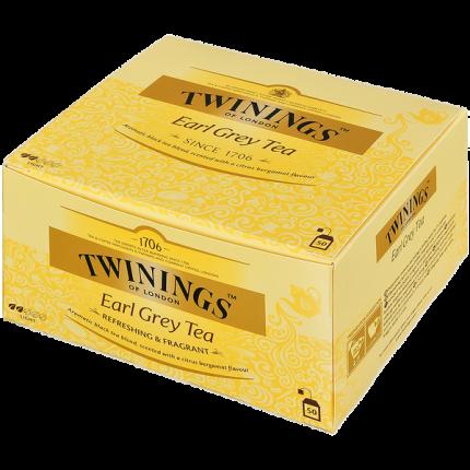 Чай Twinings эрл грей черный байховый  бергамот  50 пакетиков