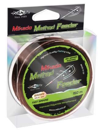 Леска монофильная Mikado Method Feeder 150 м коричневая 0,24 мм