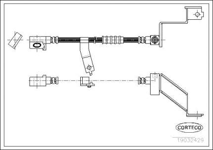 Шланг тормозной CORTECO 19032429