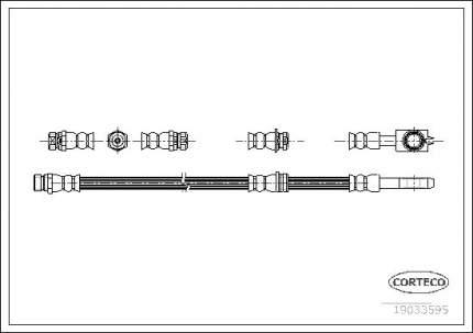 Шланг тормозной CORTECO 19033595