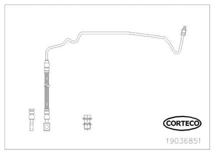 Шланг тормозной CORTECO 19036851