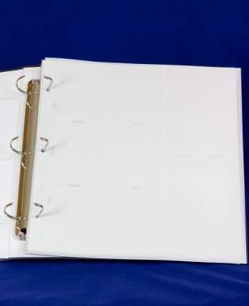 Пластиковые страницы с кармашками для большого альбома на трех кольцах