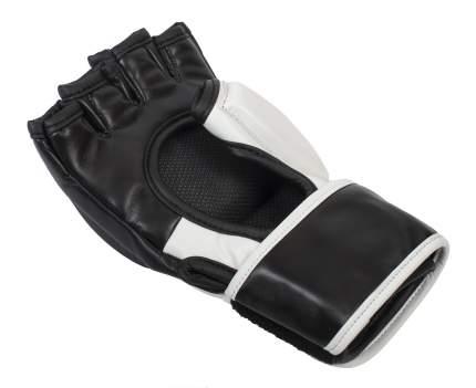 Перчатки для смешанных единоборств Clinch Combat черно-белые L/XL