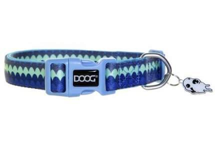 Ошейник для собак DOOG Pluto синий с узором 32-46см