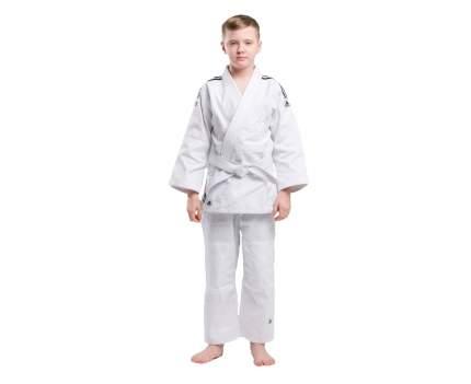 Кимоно для дзюдо Adidas с поясом Club белое с черными полосками 170 см