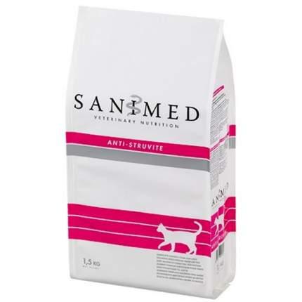 Сухой корм для кошек SANIMED Anti-Struvite, при МКБ, домашняя птица, 1,5кг