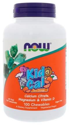 Витаминный комплекс NOW Kid Calcium 100 табл. апельсин
