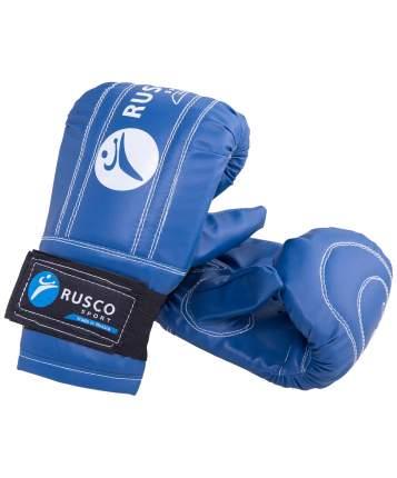 Перчатки снарядные Rusco Sport, кожзам, синий (M)