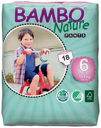 Подгузники-трусики Bambo Nature Pants XL (18+ кг) 18 шт