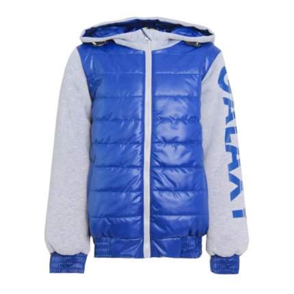 Куртка Арсений с шелкографией , 128 р-р, Тёмно-синий