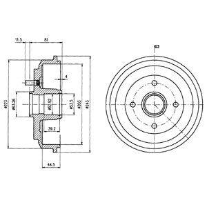 Тормозной барабан DELPHI BF487