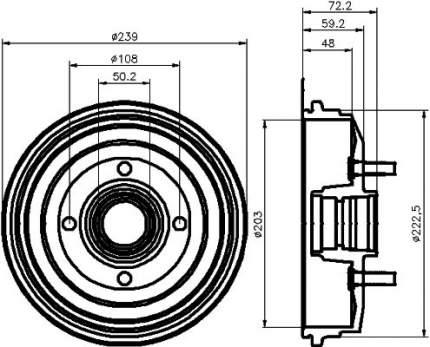 Тормозной барабан MINTEX MBD045