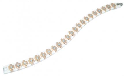 Керамический магнитный браслет Randa белый