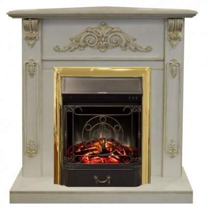 Каминокомплект белый дуб Real-Flame Anita Corner WTG с очагами Fobos/Majestic